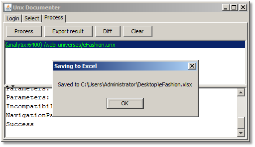 UnxDoc Export Result